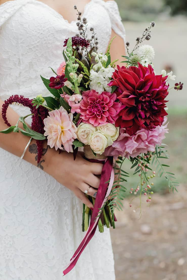 A Lilac and Burgundy Bohemian Wedding | Stirling Photography