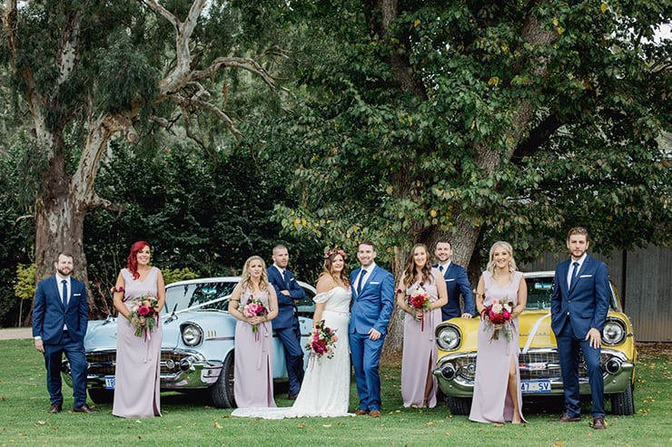 Rebecca & Ash's Lilac & Burgundy Bohemian Wedding