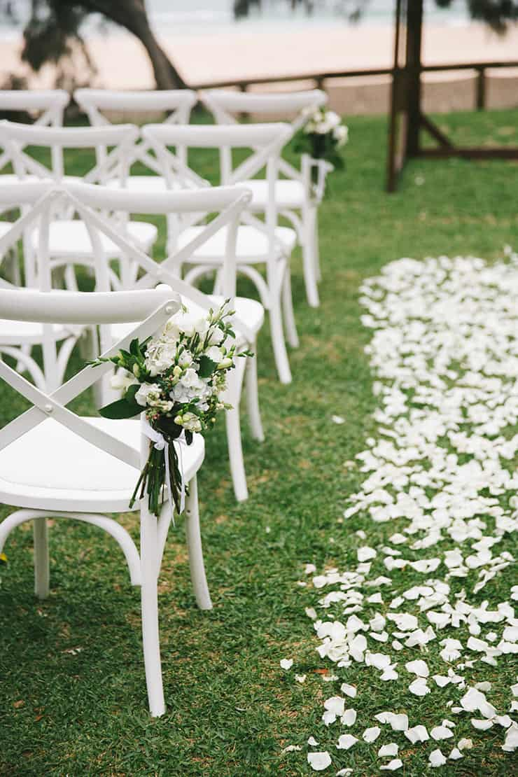 A Stylish Beach Wedding in Navy, Pink and White - The ...