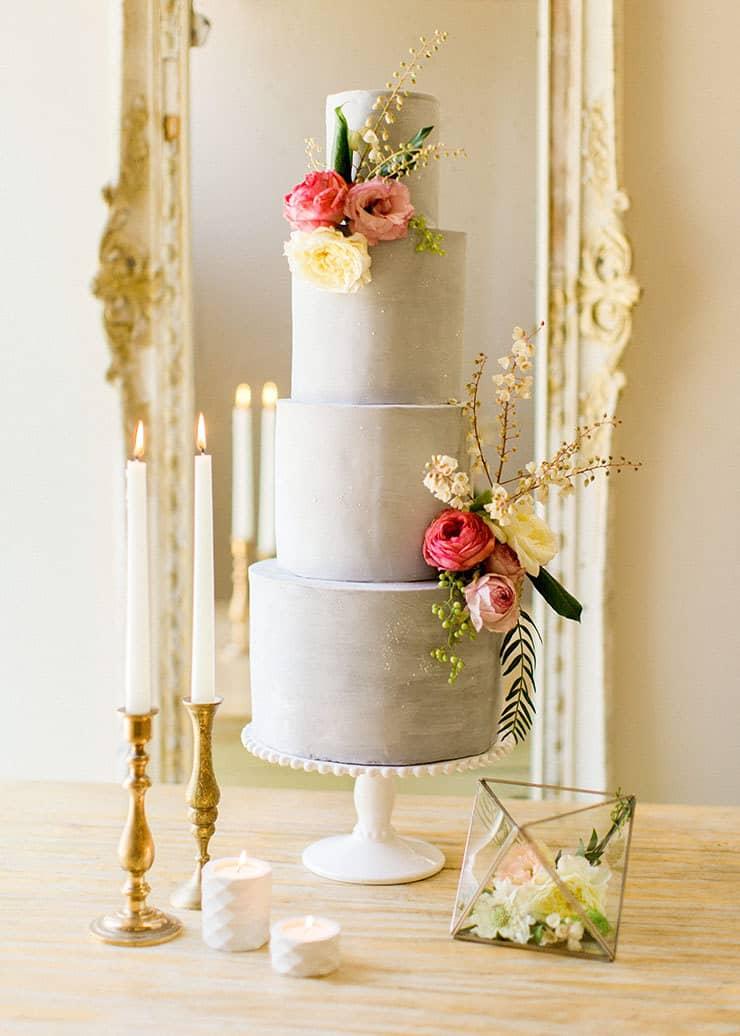 Amazing-Wedding-Cakes-Soft-Blue-Fondant-Pink-White-Flowers