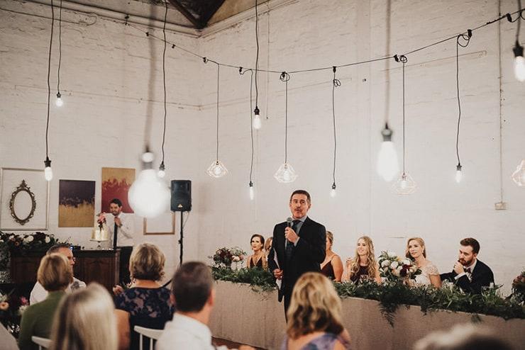 Artistic Warehouse Wedding Reception Speeches The Wedding Playbook