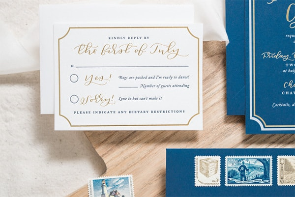 Awkward Wedding RSVP Conversations | Andrea Pesce via Oh So Beautiful Paper