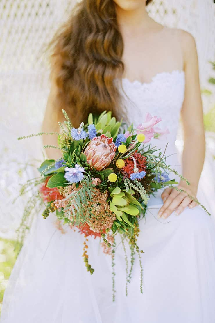Beautiful-Wedding-Bouquet-Modern-Texture-Australian-Native