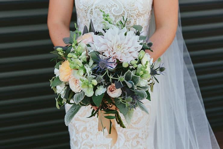 Beautiful-Wedding-Bouquet-Modern-Texture-Pink-Green-Blue-Flowers