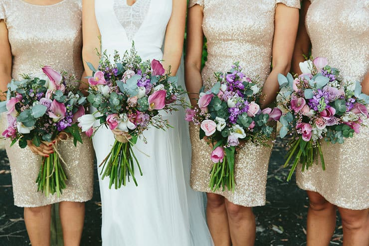 Beautiful-Wedding-Bouquet-Modern-Texture-Pink-Purple-Green-Flowers