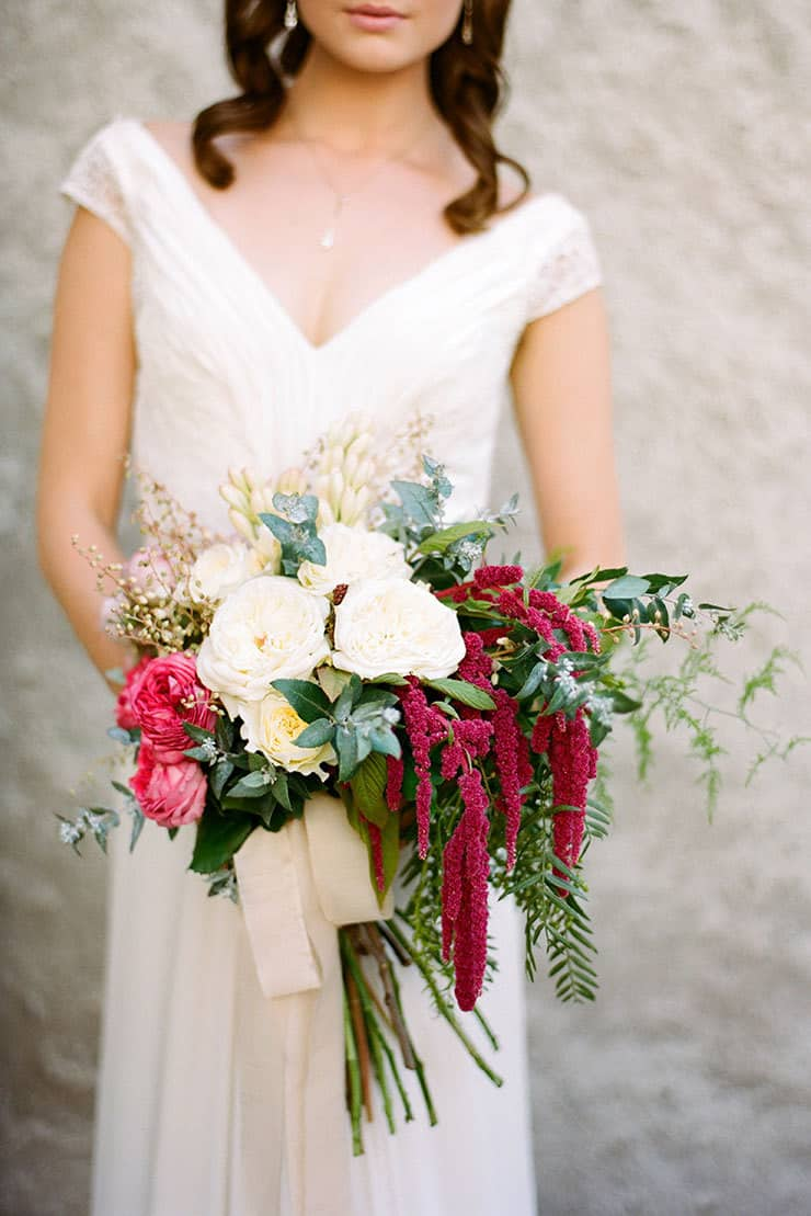 Beautiful-Wedding-Bouquet-Rich-Romantic-Dark-Pink-White