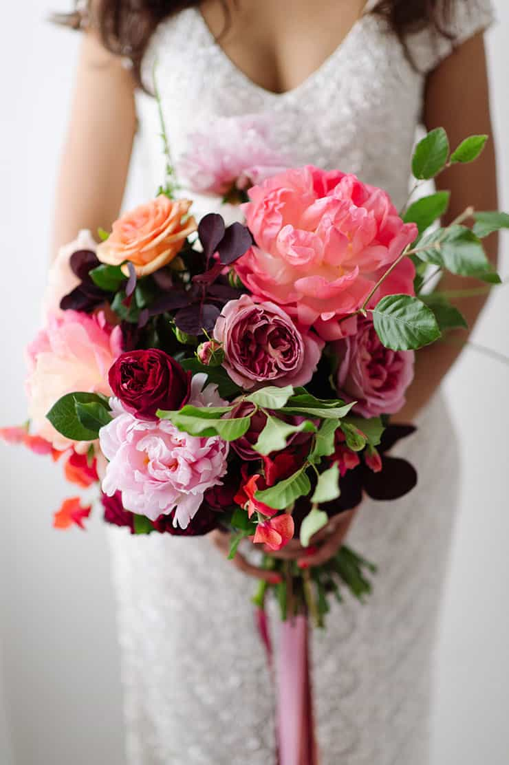 Beautiful-Wedding-Bouquet-Rich-Romantic-Pink-Purple-Flowers