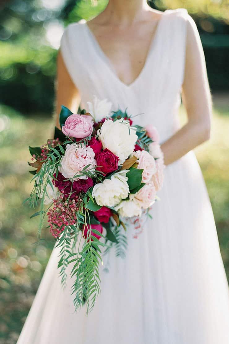 Beautiful-Wedding-Bouquet-Rich-Romantic-Pink-White-Flowers