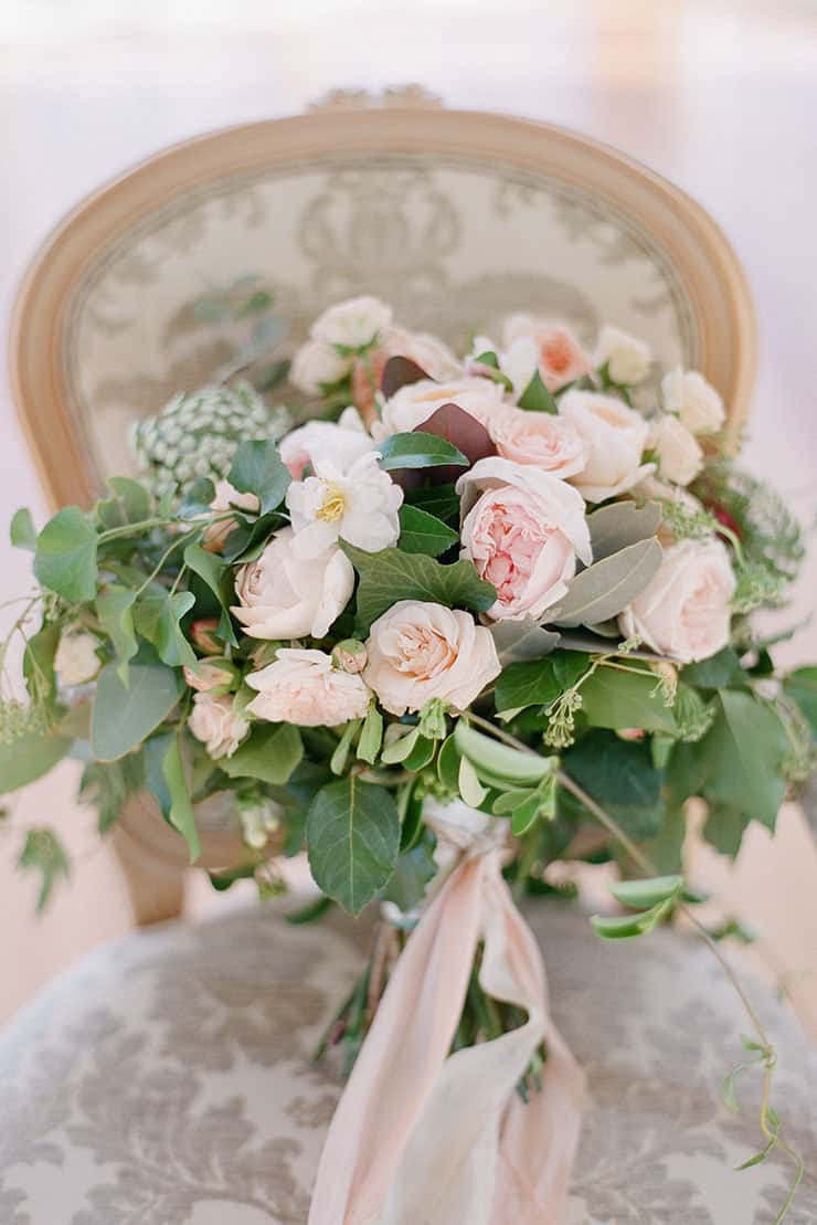 Beautiful wedding bouquet subtle elegance blush white green flowers save mightylinksfo