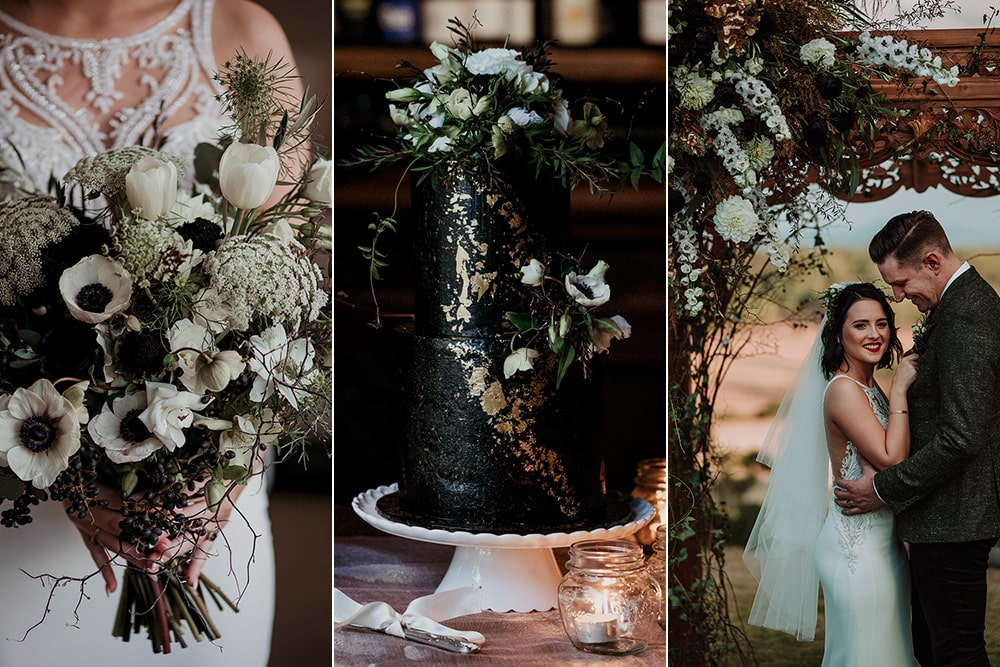 Striking Black & Forest Green Wedding Inspiration