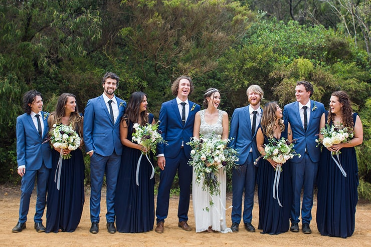 A Blue And White Diy Country Wedding