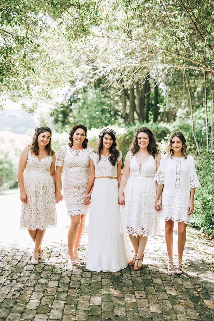 A boho country wedding with native flowers the wedding for Boho country wedding dress