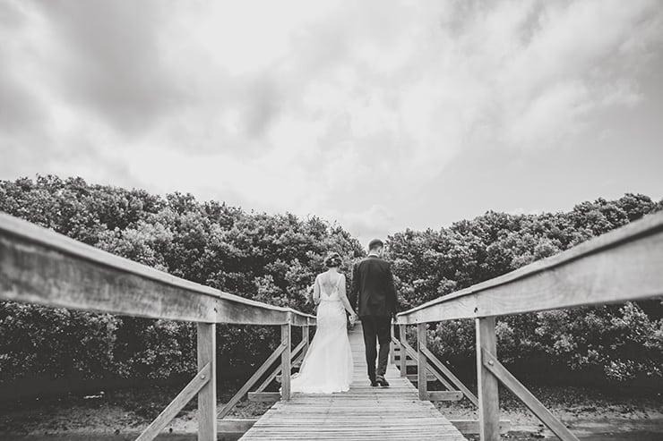 Bold-Bright-Floral-Wedding-Bride-Groom-Portrait-Black-White-3