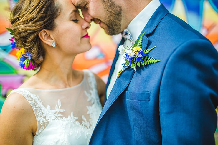 Bold-Bright-Floral-Wedding-Bride-Groom-Portrait