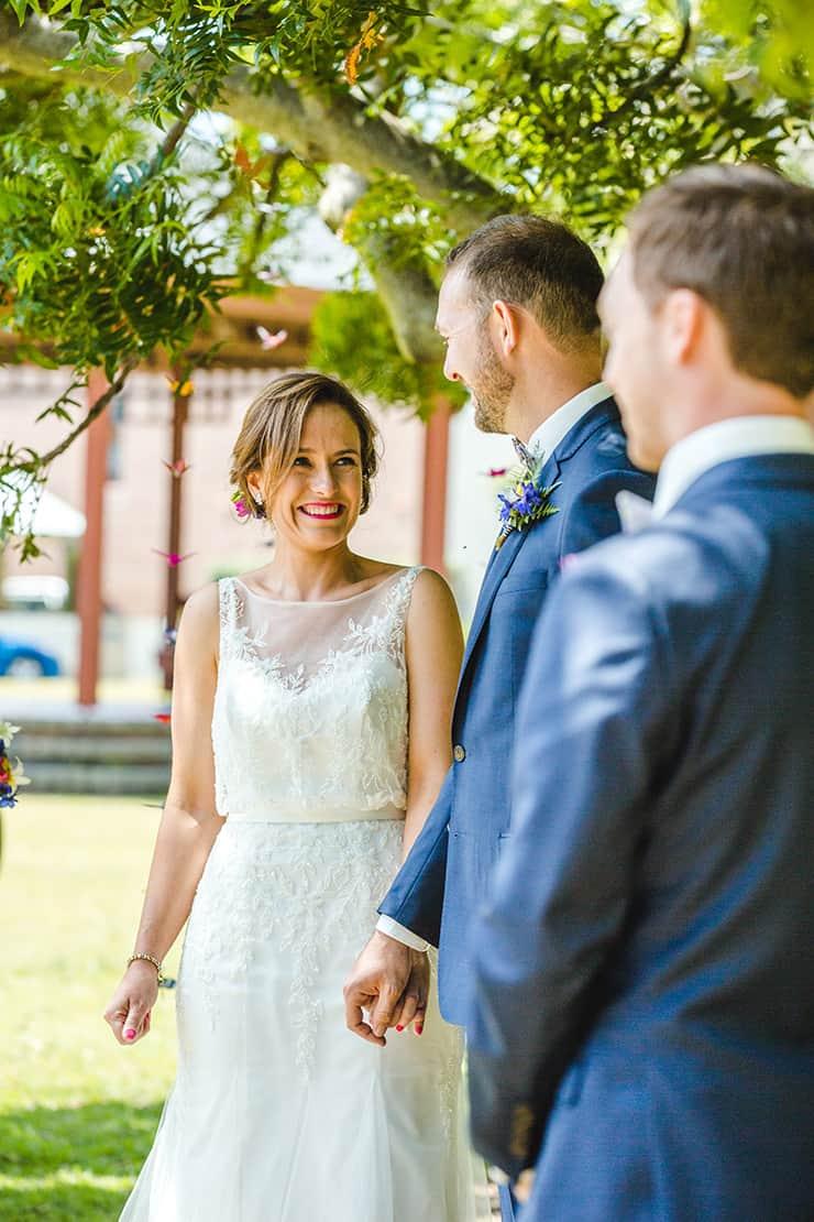 Bold-Bright-Floral-Wedding-Ceremony-Bride