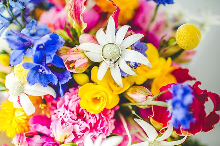 Bold-Bright-Floral-Wedding-Ring-Bouquet