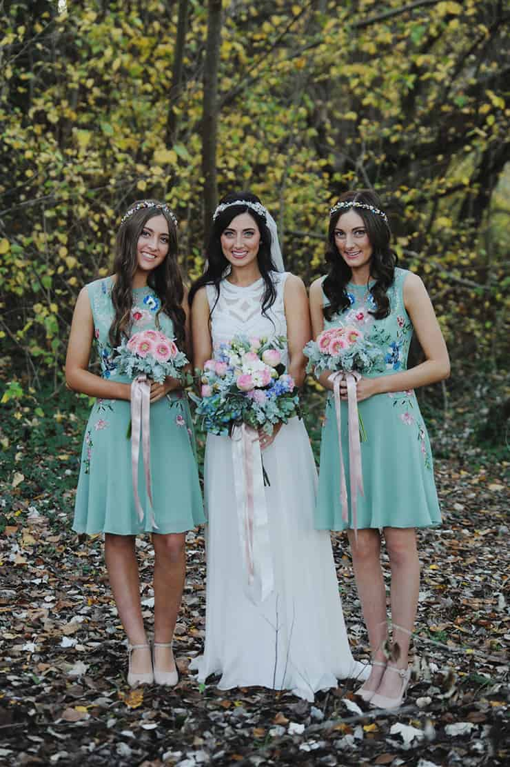 Bridesmaid-Dress-Ideas-Cocktail-Mint-Floral-Embroidery