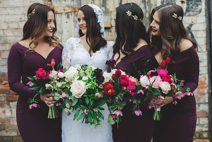 Bridesmaid-Dress-Ideas-Cocktail-Plum