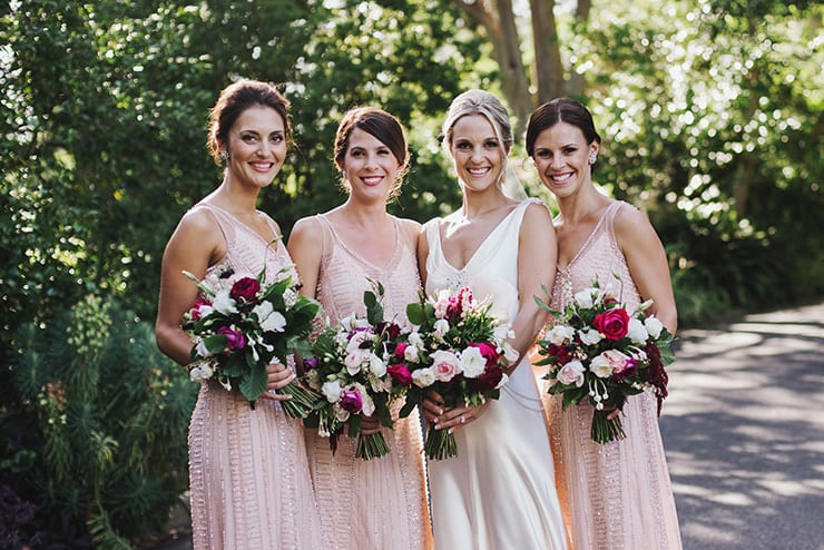 Bridesmaid-Dress-Ideas-Full-Length-Pink-Beaded-Vintage
