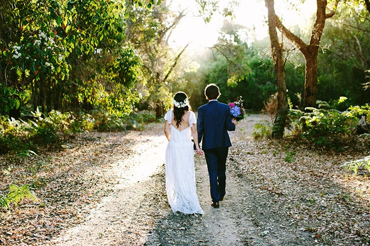 Bright Bohemian Winery Wedding