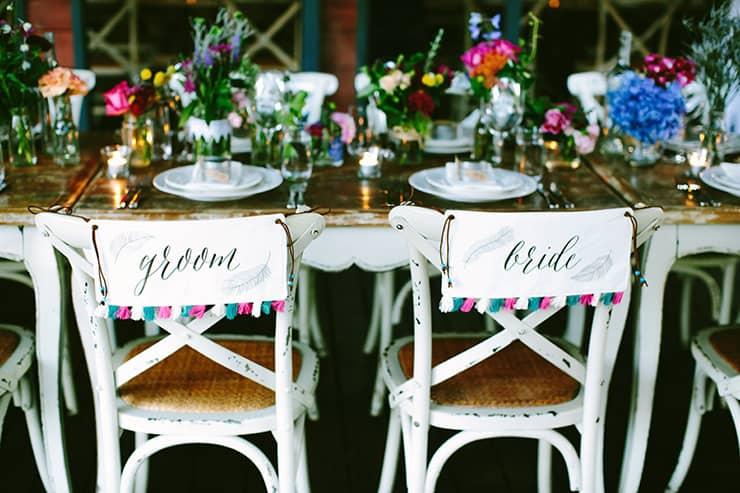 Claire & Jonny's Bright Bohemian Winery Wedding