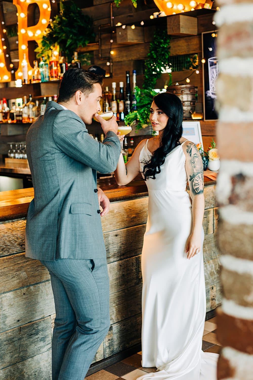 Bright Mid-Century Summer Wedding Inspiration with Sunburst Details
