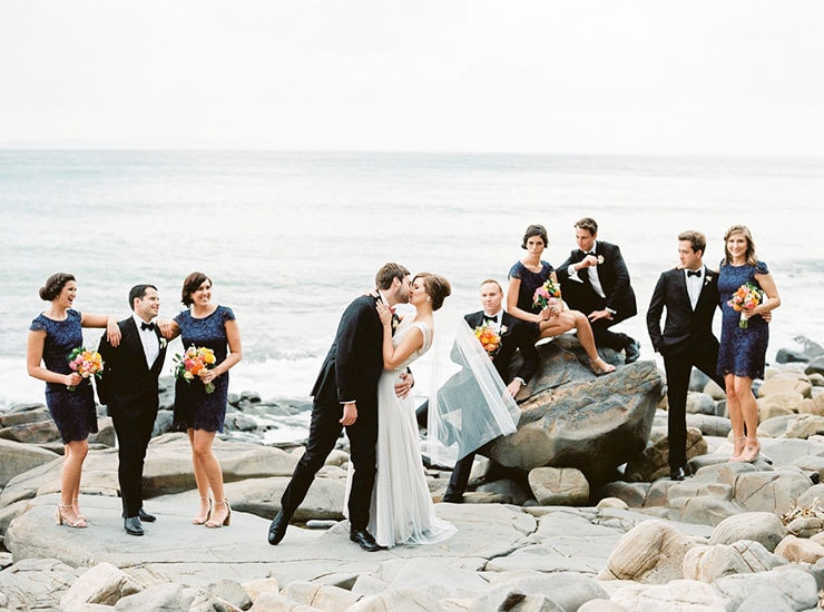 Bright-Waterfront-Cocktail-Wedding-Bridal-Party