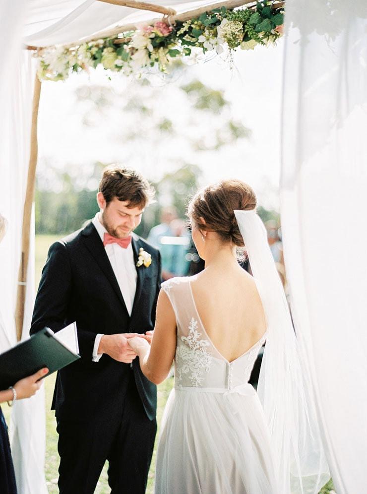 Bright-Waterfront-Cocktail-Wedding-Bride-Groom-Ceremony-Vows-2