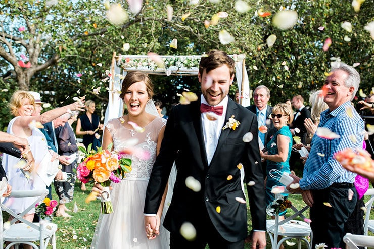 Bright-Waterfront-Cocktail-Wedding-Bride-Groom-Confetti-Toss-2