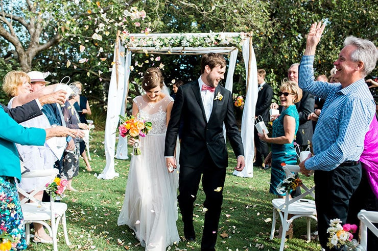 Bright-Waterfront-Cocktail-Wedding-Bride-Groom-Confetti-Toss-3