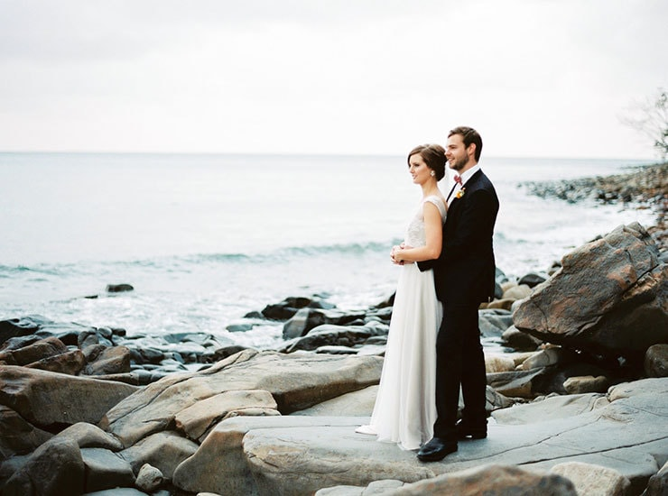 Bright-Waterfront-Cocktail-Wedding-Bride-Groom