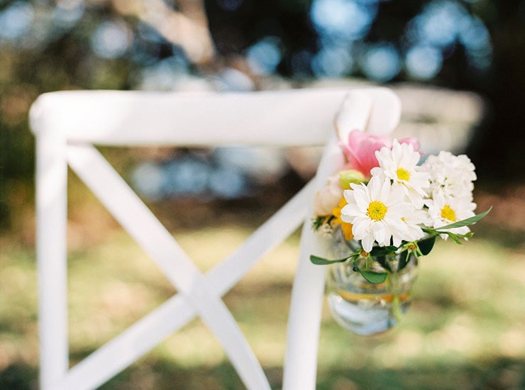 Bright-Waterfront-Cocktail-Wedding-Ceremony-Aisle-Flowers-2