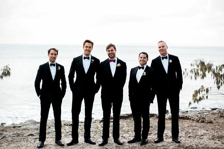 Bright-Waterfront-Cocktail-Wedding-Groom-Groomsmen