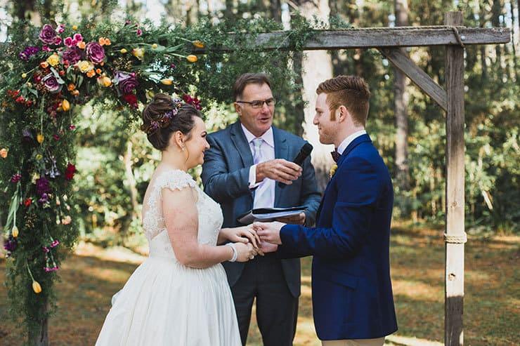 Bright Whimsical Vintage Wedding Ceremony
