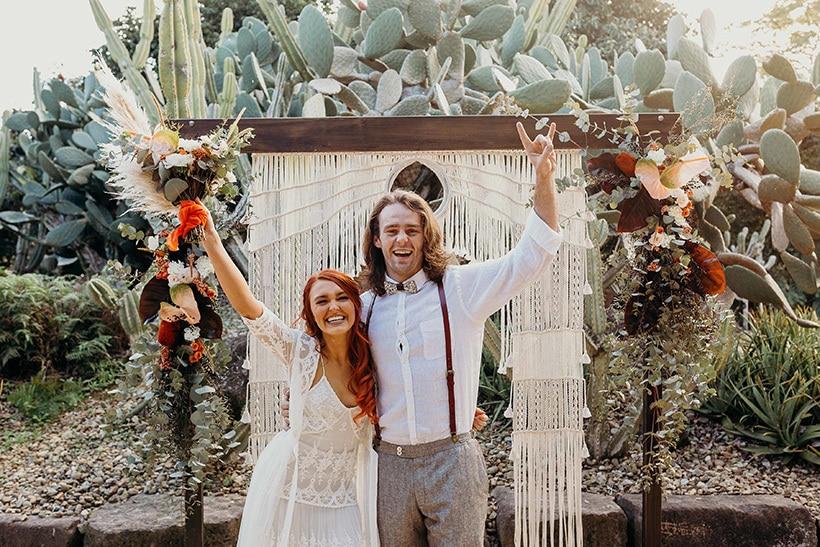 Burnt Orange Boho Desert Wedding Inspiration |Chasing Moments Photography