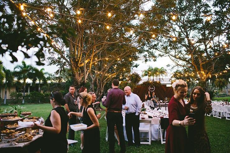 Alicia & Dave's Candlelit Garden Banquet Wedding