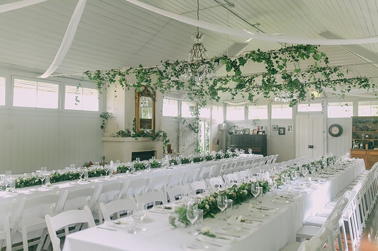 A Charming Green and White Country Wedding