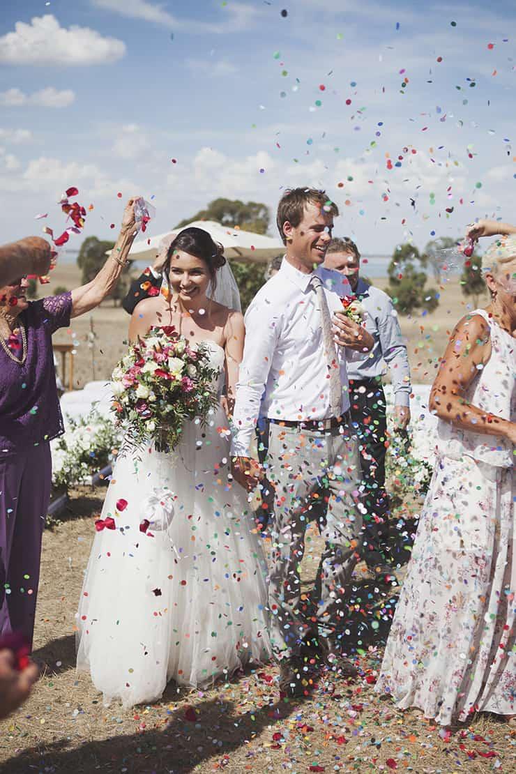Classic-Country-Romance-Wedding-Bride-Groom-Ceremony-Confetti