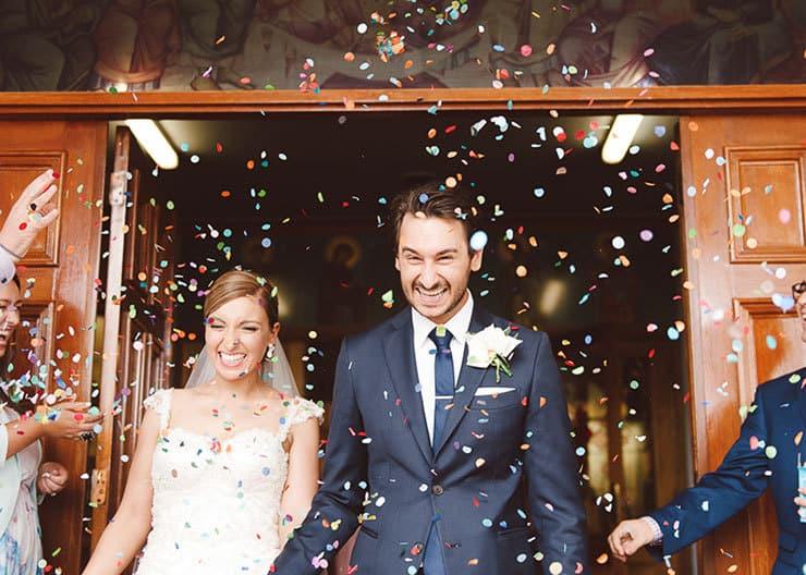 Classic-Estate-Wedding-Pink-White-Ceremony-Bride-Groom-Confetti-Toss