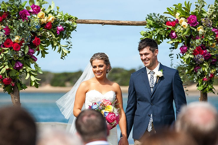 Colourful Coastal Wedding