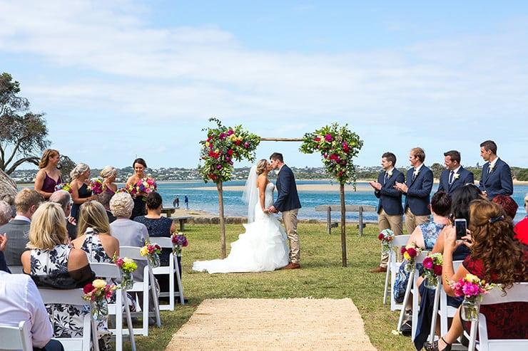 Colourful Coastal Wedding