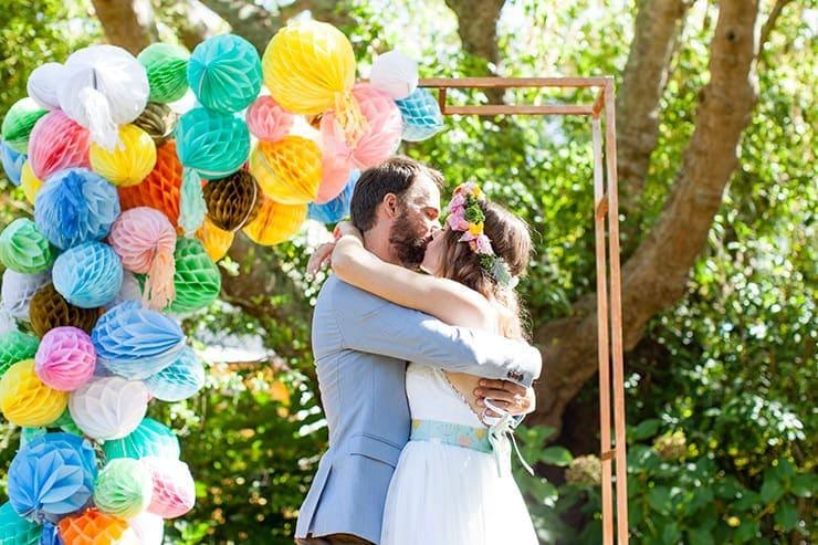 Shannon & David's Colourful Garden Party Wedding