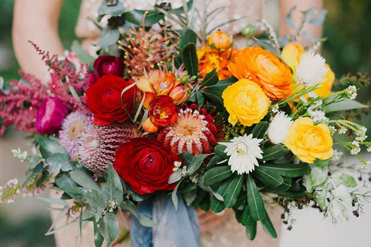 Hannah & Nick's Colourful Outdoor Garden Wedding