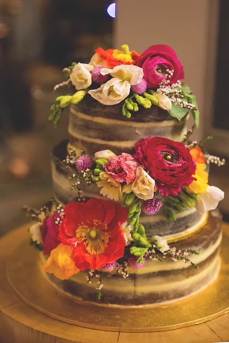 Colourful-Vintage-DIY-Wedding-Naked-Cake-with-Flowers