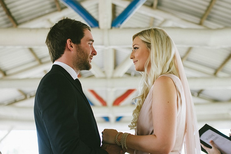 A DIY Cocktail Wedding With a Blush Wedding Gown   Chantelle Stagg Photography