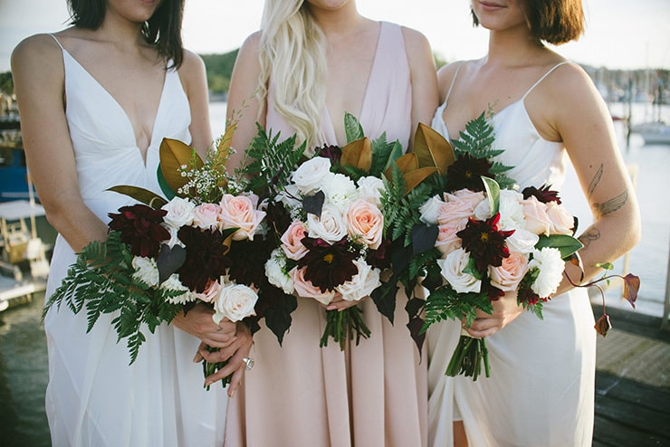 A DIY Cocktail Wedding With a Blush Wedding Gown | Chantelle Stagg Photography