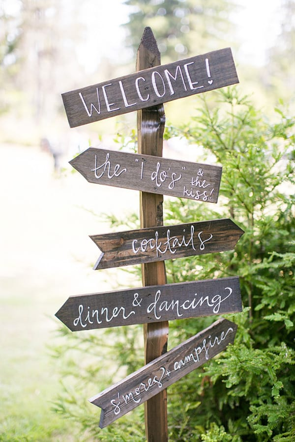 Wedding Directions Sign | Anna Marks Photography via Glamour & Grace