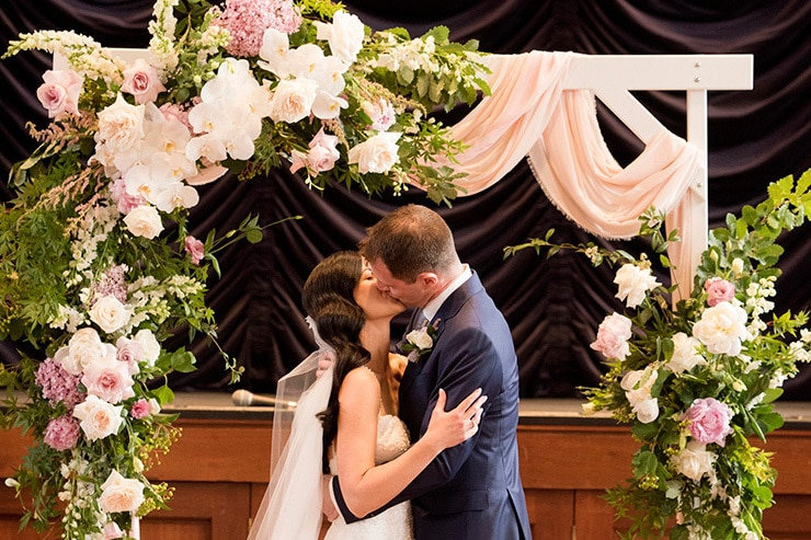 Nadia & Adam's Elegant Blush Wedding