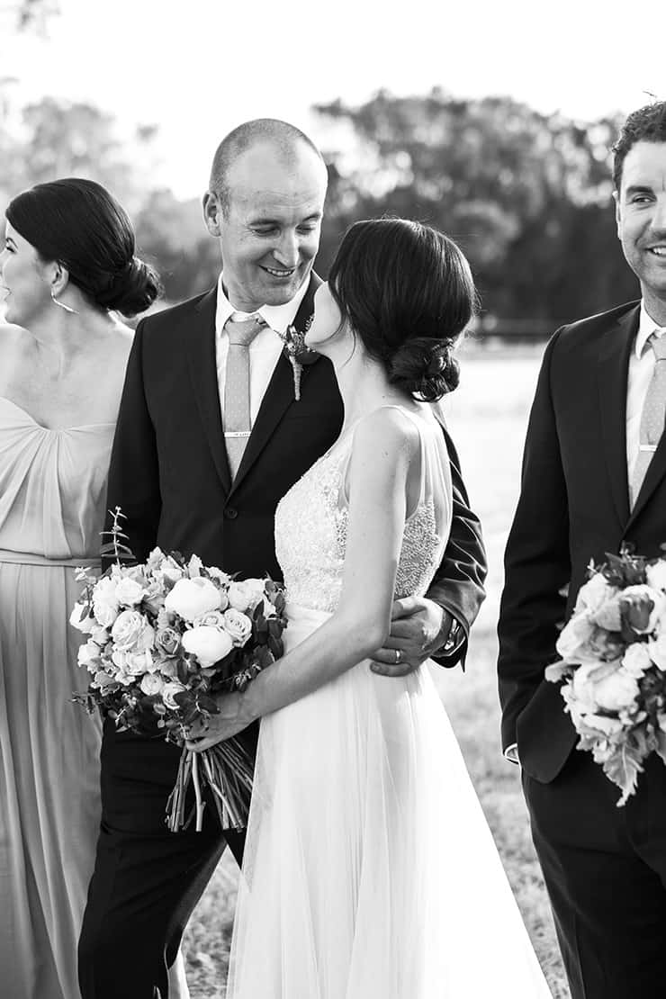 Elegant-Cocktail-Style-Wedding-Bride-Groom-Portrait-Black-White-1