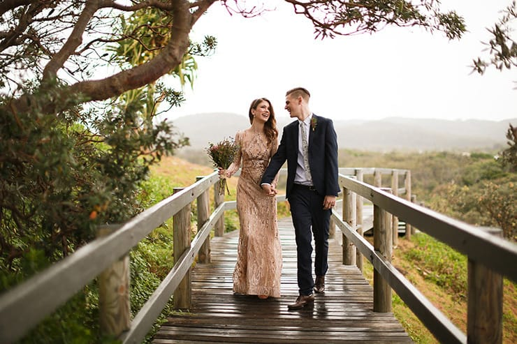 Elegant Rainy Day Wedding in Glittering Gold | Deezigner Images